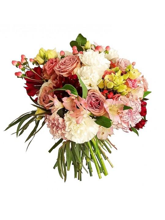 Jarron de flores variadas