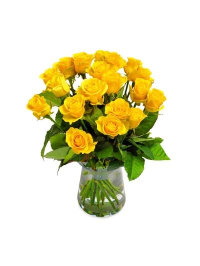 Jarron de 24 rosas amarillas