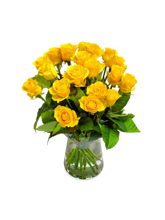 Jarron de rosas amarillas